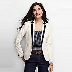 Lands' End - White women's regular knit pique blazer