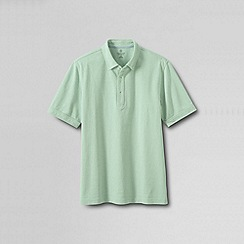 Lands' End - Green men's original short sleeve buttondown polo shirt