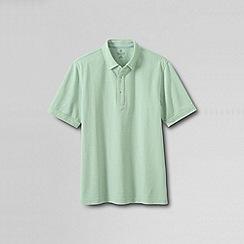 Lands' End - Green men's original short sleeve buttondown polo shirt
