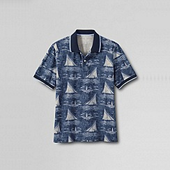 Lands' End - Multi men's original pique short sleeve print polo - novelty collar