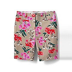 Lands' End - Pink regular printed bermuda chino shorts