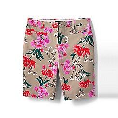 Lands' End - Pink regular printed bermuda chino shorts