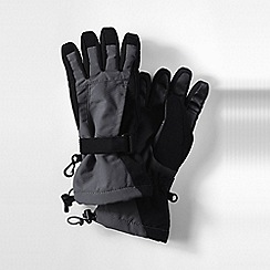Lands' End - Grey boys' squall gloves