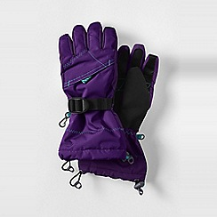 Lands' End - Purple girls' expedition gloves