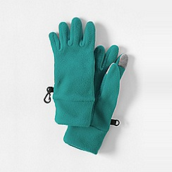 Lands' End - Blue girls' thermacheck-100 fleece gloves
