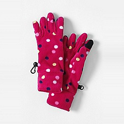 Lands' End - Pink girls' patterned thermacheck-100 fleece gloves