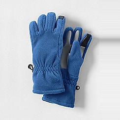 Lands' End - Blue girls' thermacheck-200 fleece gloves