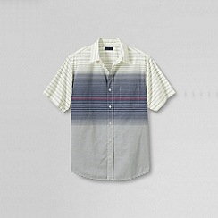 Lands' End - Blue men's short sleeve festival shirt