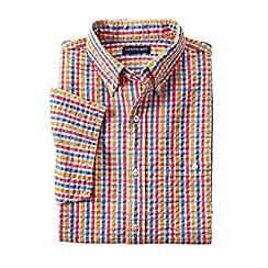 Lands' End - Multi regular short sleeve seersucker shirt