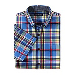 Lands' End - Blue short sleeve madras shirt