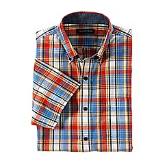 Lands' End - Orange short sleeve madras shirt