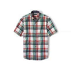 Lands' End - Red short sleeve madras shirt