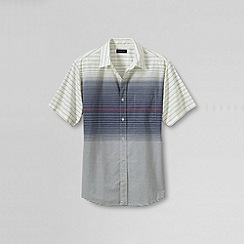 Lands' End - Blue men's short sleeve tailored festival shirt