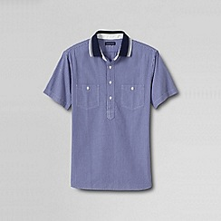 Lands' End - Multi men's tailored short sleeve oxford polo shirt