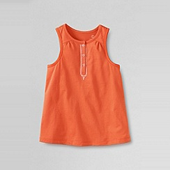 Lands' End - Orange little girls' embroidered tank top