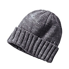 Lands' End - Grey men's cashtouch knit hat