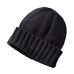 Lands' End - Black men's cashtouch knit hat