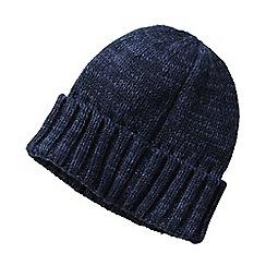 Lands' End - Blue men's cashtouch knit hat