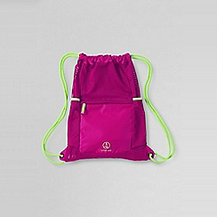 Lands' End - Pink kids' drawstring gym bag