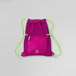 Lands' End - Pink kids' drawstring gym bag