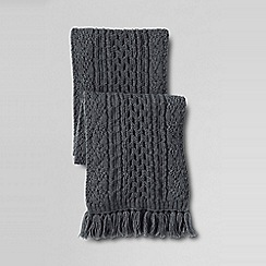 Lands' End - Grey men's alpaca blend cable scarf