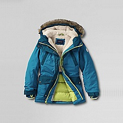 Lands' End - Blue little girls' expedition parka