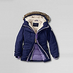 Lands' End - Blue girls' expedition parka