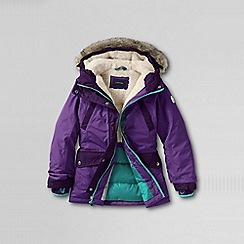 Lands' End - Purple girls' expedition parka