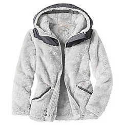 Lands' End - Grey little girls' softest fleece jacket
