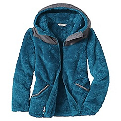 Lands' End - Blue little girls' softest fleece jacket