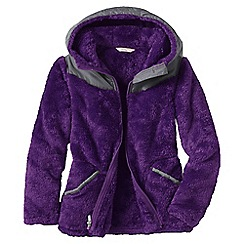 Lands' End - Purple little girls' softest fleece jacket