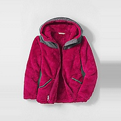 Lands' End - Pink girls' softest fleece jacket