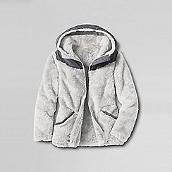 Lands' End - Grey girls' softest fleece jacket