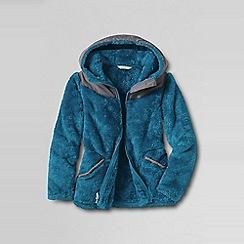 Lands' End - Blue girls' softest fleece jacket