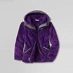 Lands' End - Purple girls' softest fleece jacket