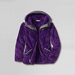 Lands' End - Purple girls' softest fleece jacket