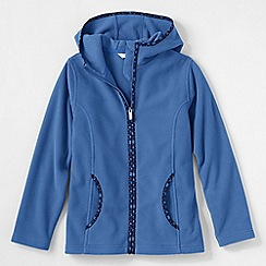 Lands' End - Blue little girls' full zip fleece hoodie