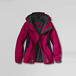 Lands' End - Pink little girls' waterproof squall jacket