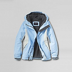 Lands' End - Blue little girls' waterproof squall jacket