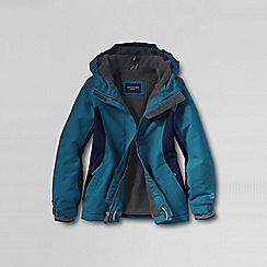 Lands' End - Blue girls' waterproof squall jacket