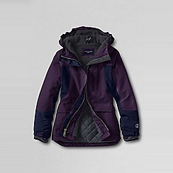 Lands' End - Purple little girls' waterproof squall parka