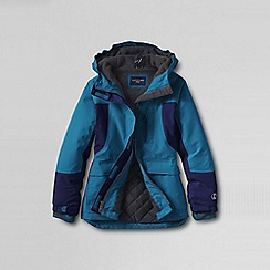 Lands' End - Blue little girls' waterproof squall parka