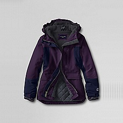 Lands' End - Purple girls' waterproof squall parka