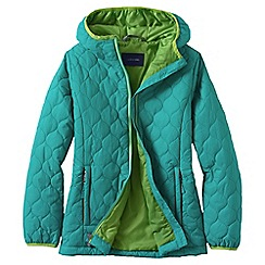 Lands' End - Blue little girls' lightweight insulated packable jacket
