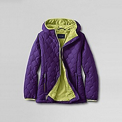 Lands' End - Purple little girls' lightweight insulated packable jacket