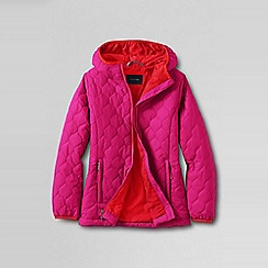 Lands' End - Pink little girls' lightweight insulated packable jacket