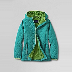 Lands' End - Blue girls' lightweight insulated packable jacket