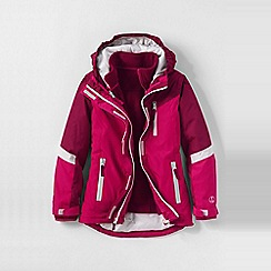 Lands' End - Purple little girls' stormer 3 in 1 system parka