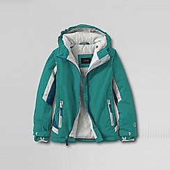 Lands' End - Blue little girls' stormer jacket