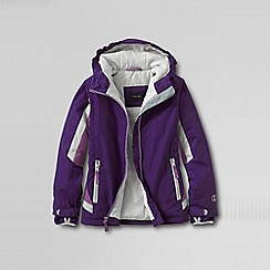 Lands' End - Purple little girls' stormer jacket